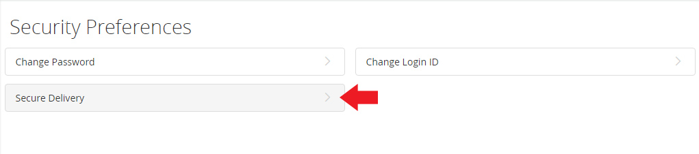 Secure Delivery Contact Information option, arrow pointing at New Text Number button