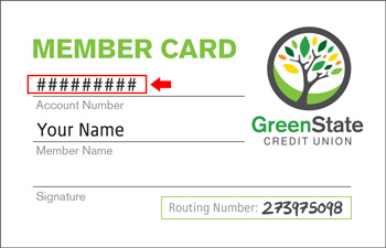 example of where to find member number on member card