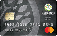 GreenState World Mastercard Example Card