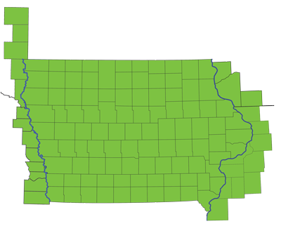 GreenState Field of Membership County Map