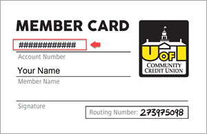 Image of member card showing where to find member number