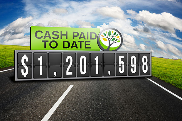 Cash paid to date 1201598